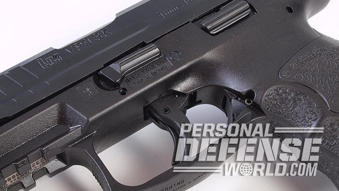 HK VP9SK pistol triggerguard controls