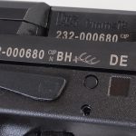 HK VP9SK pistol ejection port