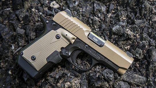 kimber micro 9 desert tan pistol