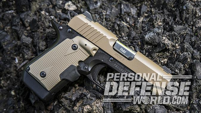 Kimber Micro 9 Desert Tan pistol right profile
