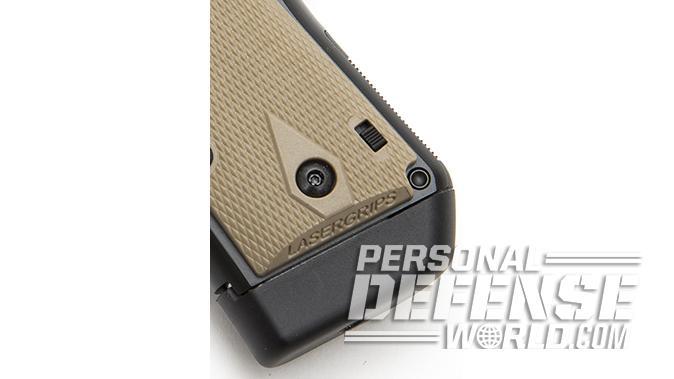 Kimber Micro 9 Desert Tan pistol mag well