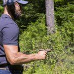 Kimber Micro 9 Desert Tan pistol shooting