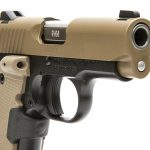 Kimber Micro 9 Desert Tan pistol muzzle