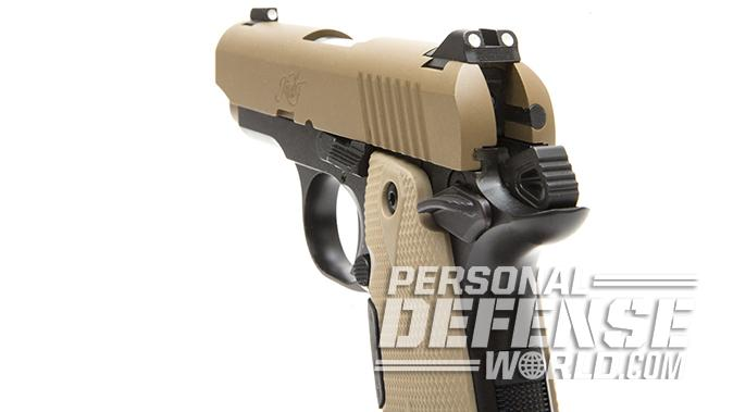 Kimber Micro 9 Desert Tan pistol rear sight