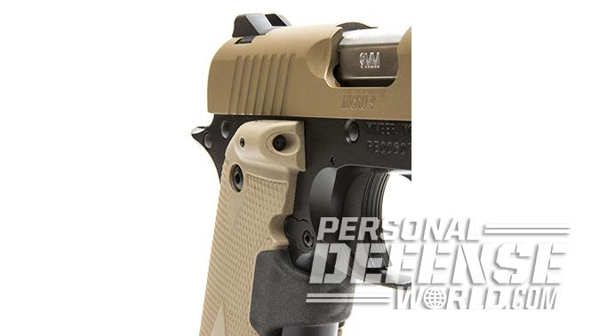 Kimber Micro 9 Desert Tan pistol grip