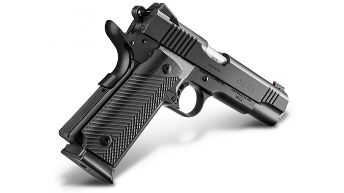 Remington 1911 R1 Ultralight Executive and enhanced double stack pistol angle