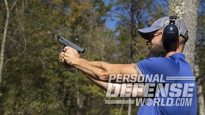 Glock 21SF springfield xd mod2 pistol shooting