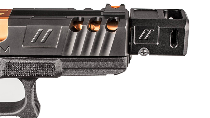 Zev Pro Compensator pistol profile