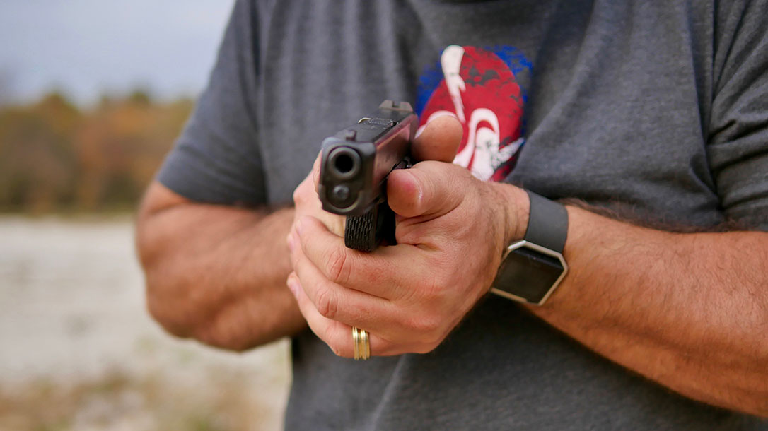 Concealed Carry First Hits two-handed grip