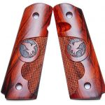 Aftermarket 1911 grips Nighthawk Cocobolo Finger Groove Pin Point