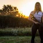 Corinne Mosher firearms training shooting sunset