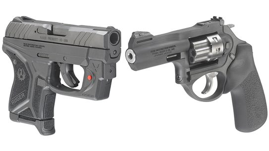 ruger lcp ii pistol right angle and lcrx revolver
