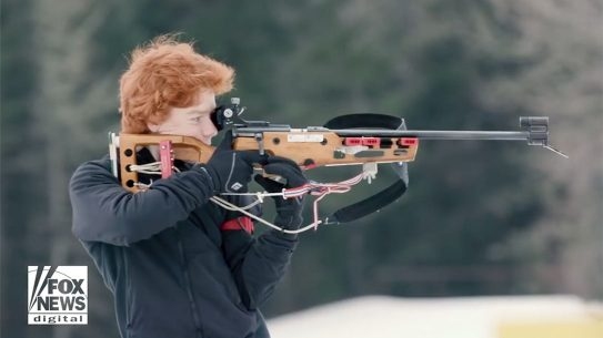 winter olympics biathlon rifle shooting