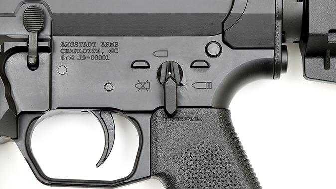 Angstadt Jack 9 pistol controls