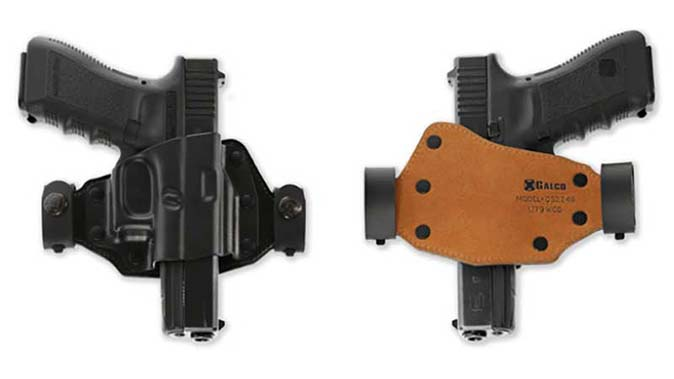 Galco Quick Slide holster front and back