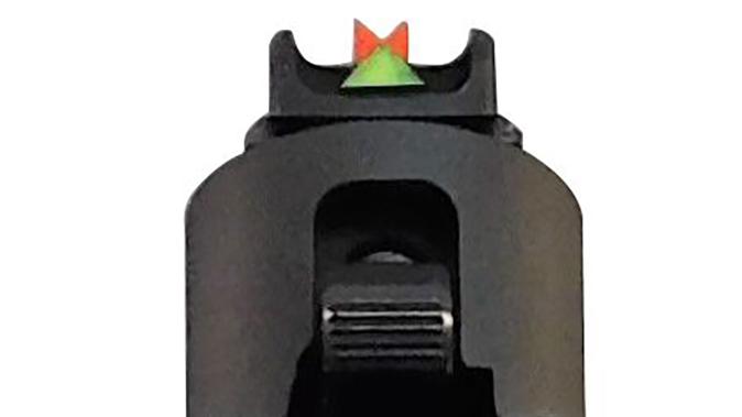 Gun Pro Delta 1 Sight sig sauer pistol rear angle