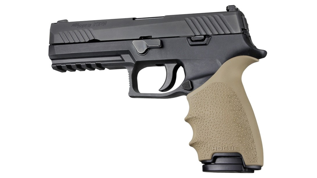 hogue handall beavertail grip p320 black fde