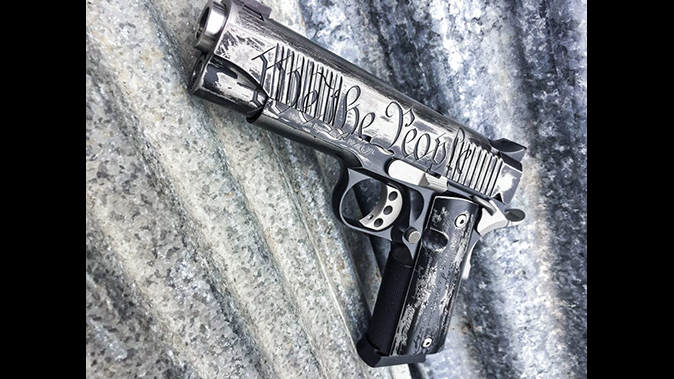 magnum research we the people desert eagle 1911 pistol left angle