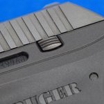 Ruger LCP pistol rear serrations