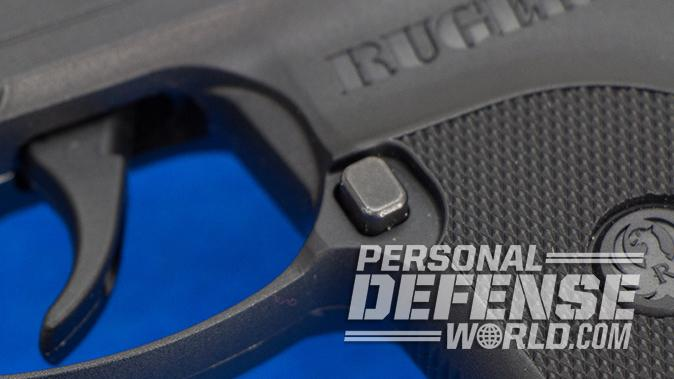 Ruger LCP pistol mag release