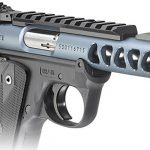 Ruger Mark IV 22/45 Lite diamond gray pistol right angle
