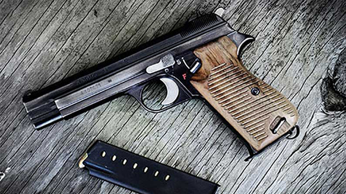 SIG P210-4 Cal. 9mm pistol edelweiss arms
