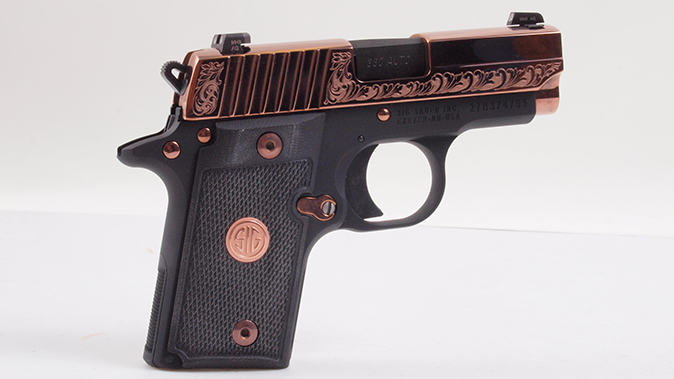 sig sauer p938 p238 rose gold pistol