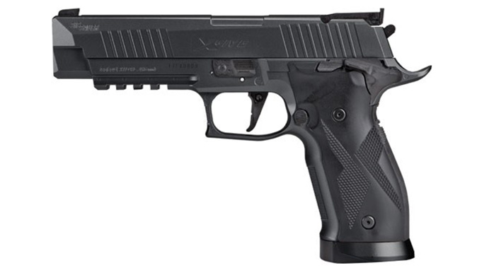 Sig Sauer X-Five ASP pistol black left profile