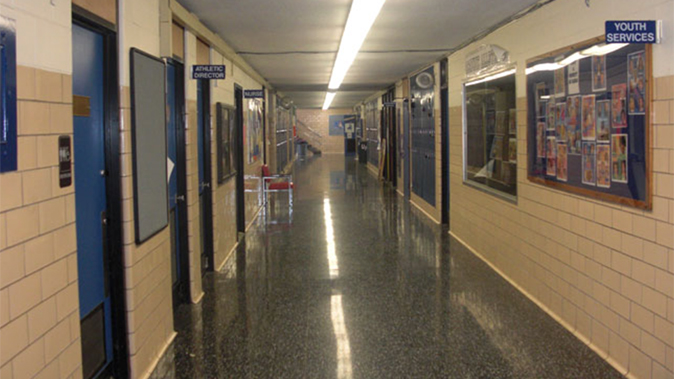 trump school safety plan school hallway