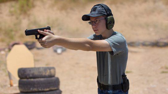 Pistol grip ways to hold a handgun youth shooter