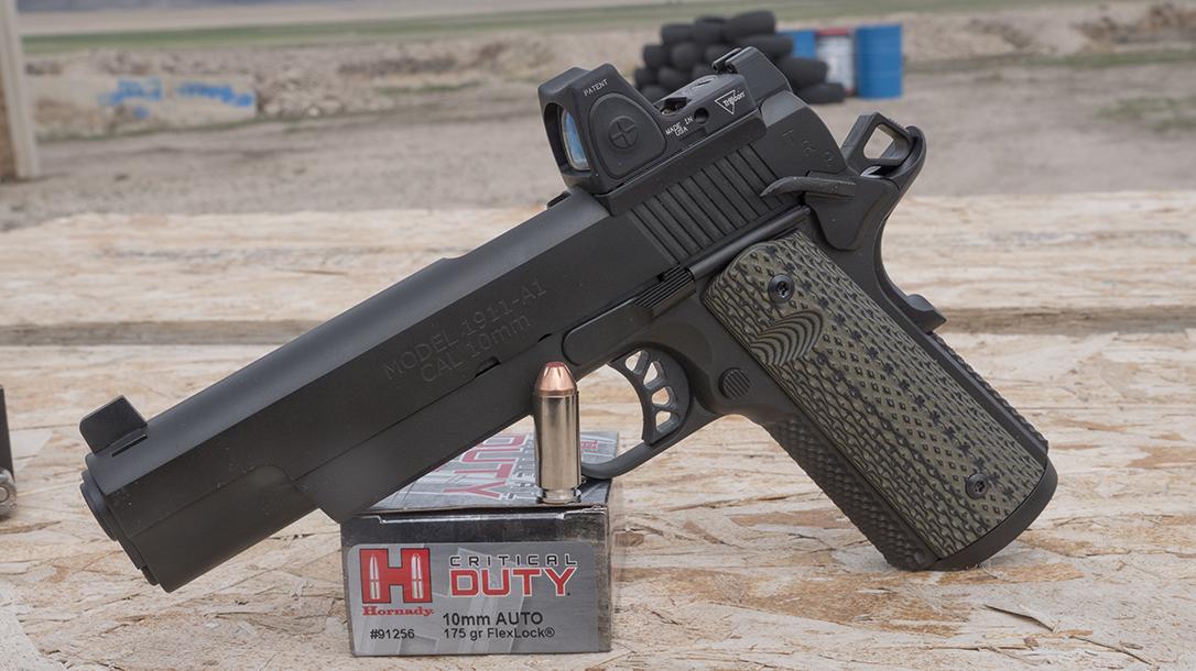 10mm Pistol, ammo, ammunition, Springfield TRP 1911