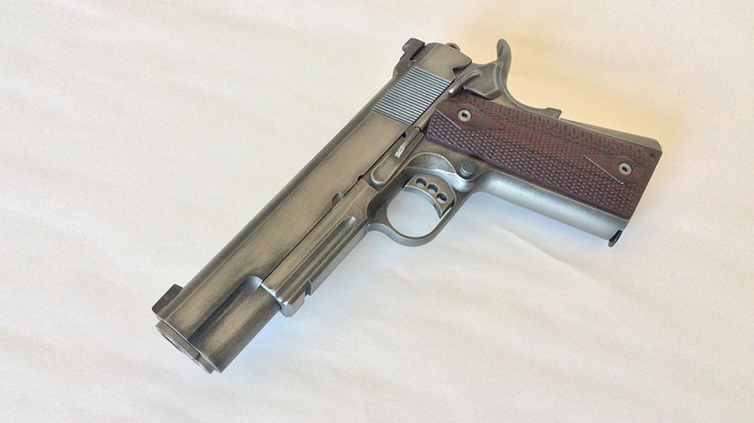 build a 1911 pistol left profile