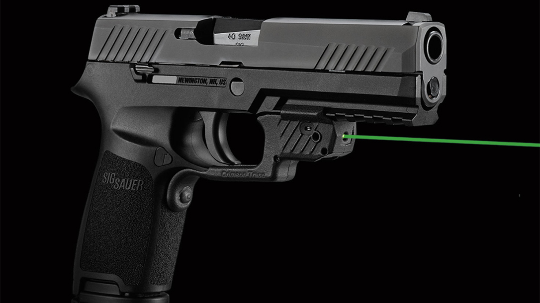 Crimson Trace LG-420g laserguard sig p320 m18 right profile
