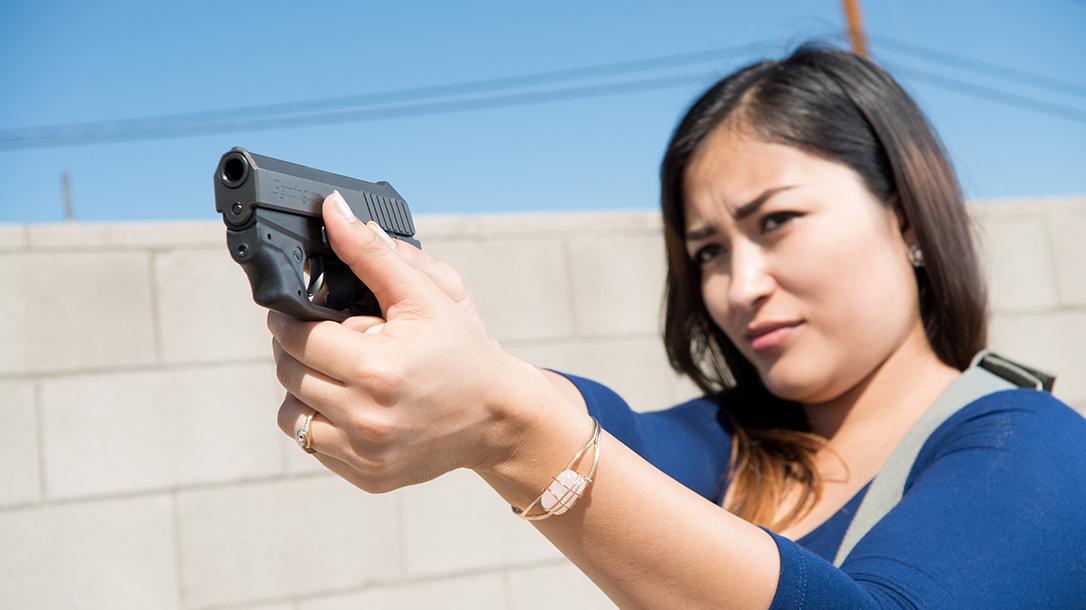 crimson trace laserguard remington rm380 pistol aiming