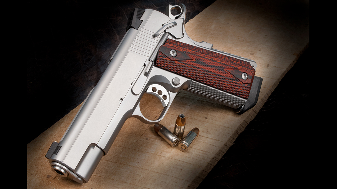 Ed Brown Executive Commander 1911 pistol left angle