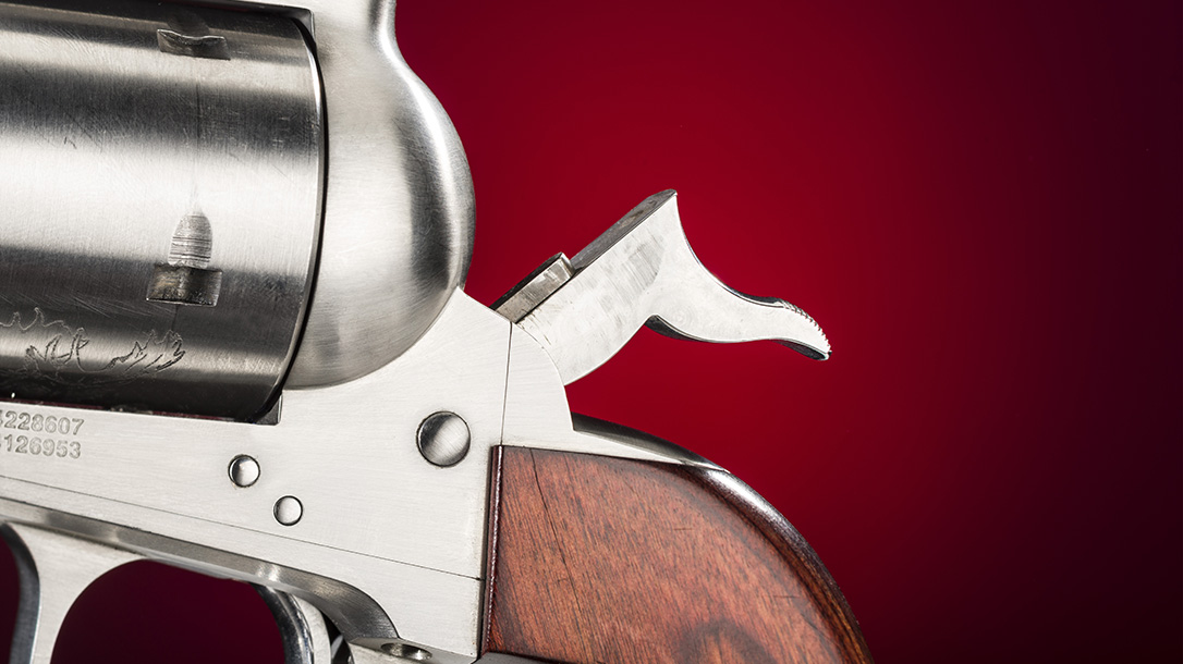 Freedom Arms Model 83 Premier Grade Stalker revolver hammer