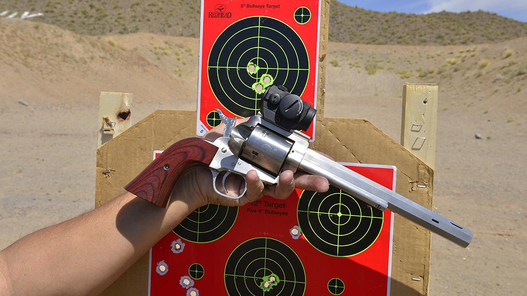 Freedom Arms Model 83 Premier Grade Stalker revolver target