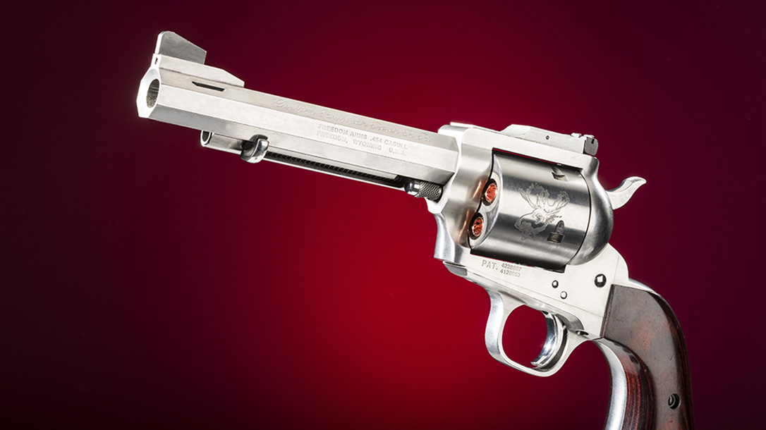 Freedom Arms Model 83 Premier Grade Predator revolver left profile