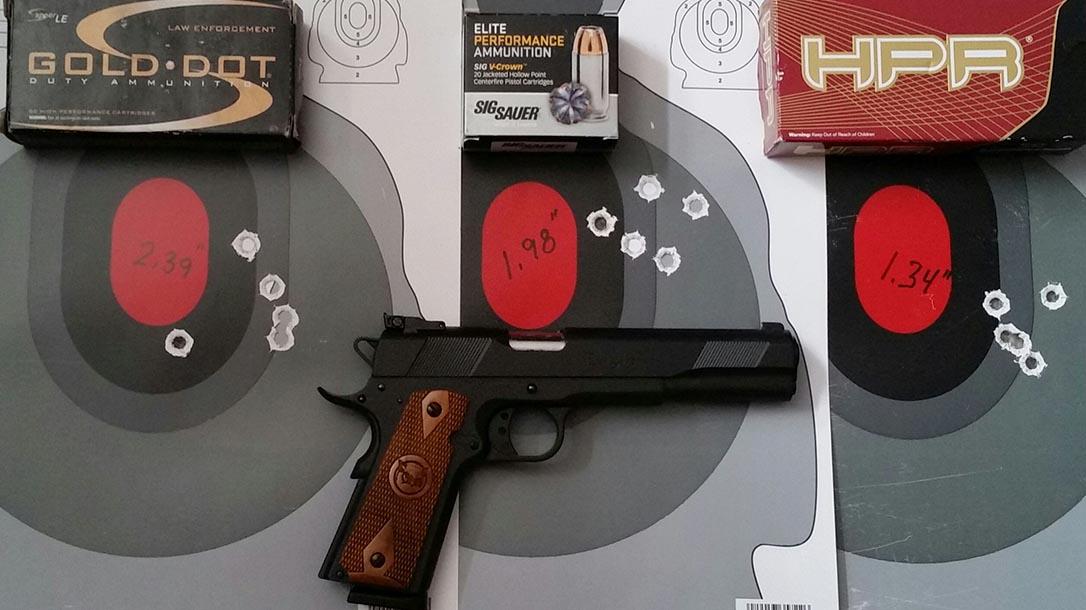 Iver Johnson Eagle XL pistol target