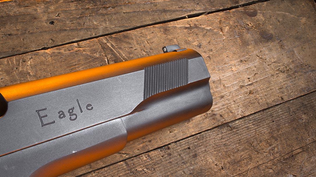 Iver Johnson Eagle XL pistol front serrations