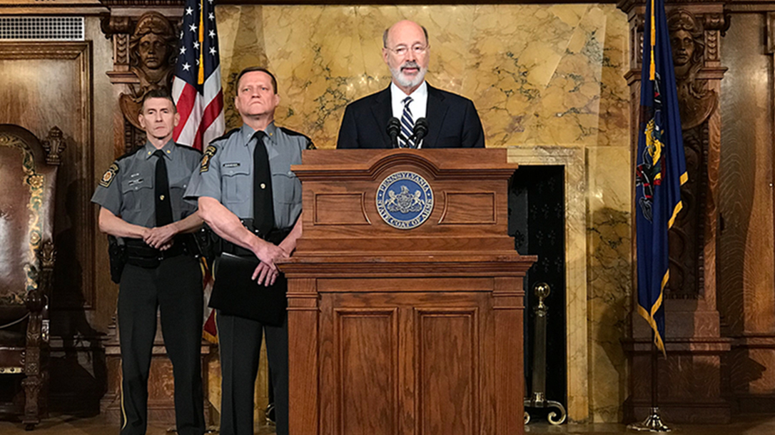 pennsylvania governor universal background checks announcement