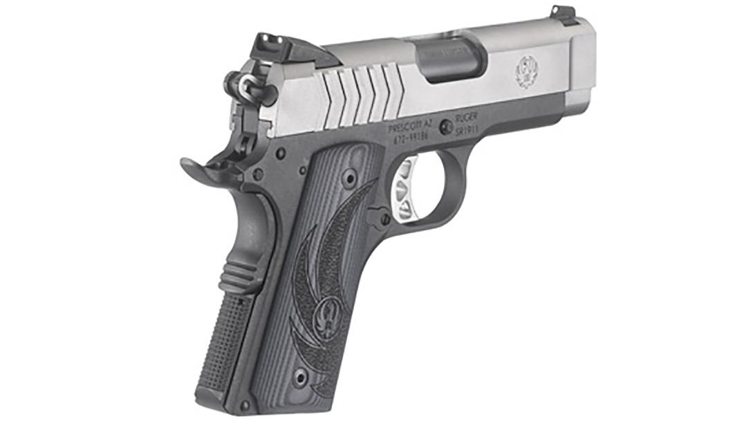 Ruger SR1911 Officer-Style pistol left rear view