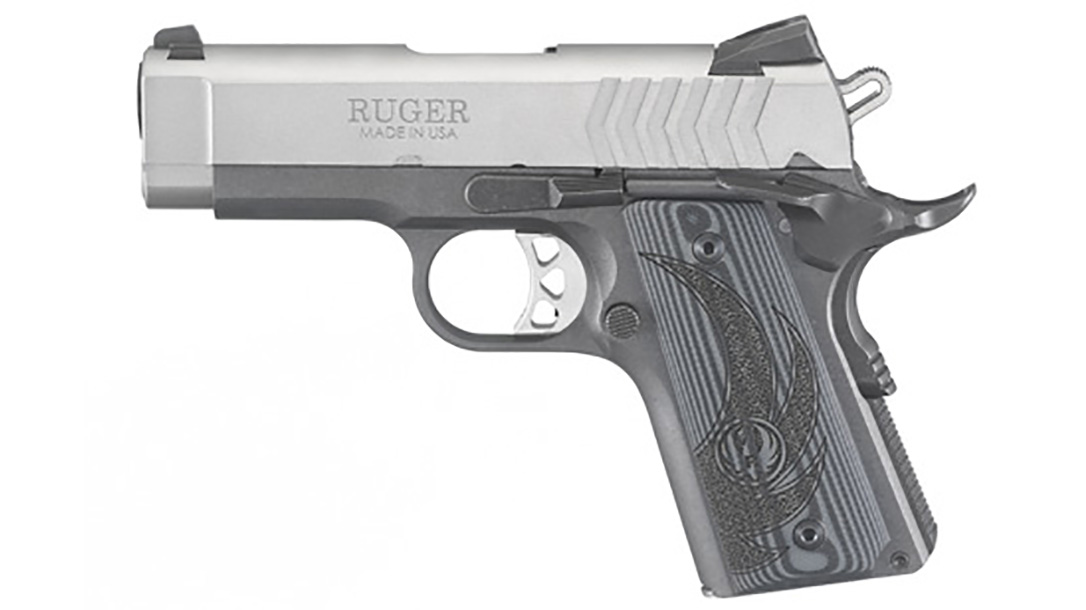Ruger SR1911 Officer-Style pistol left profile