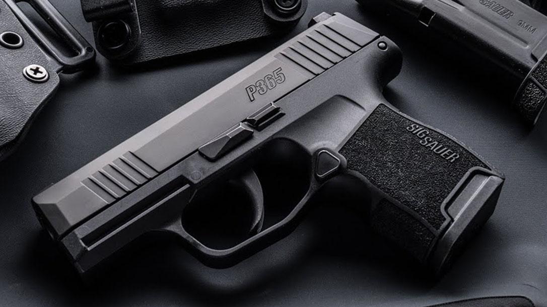 sig p365 pistol left profile