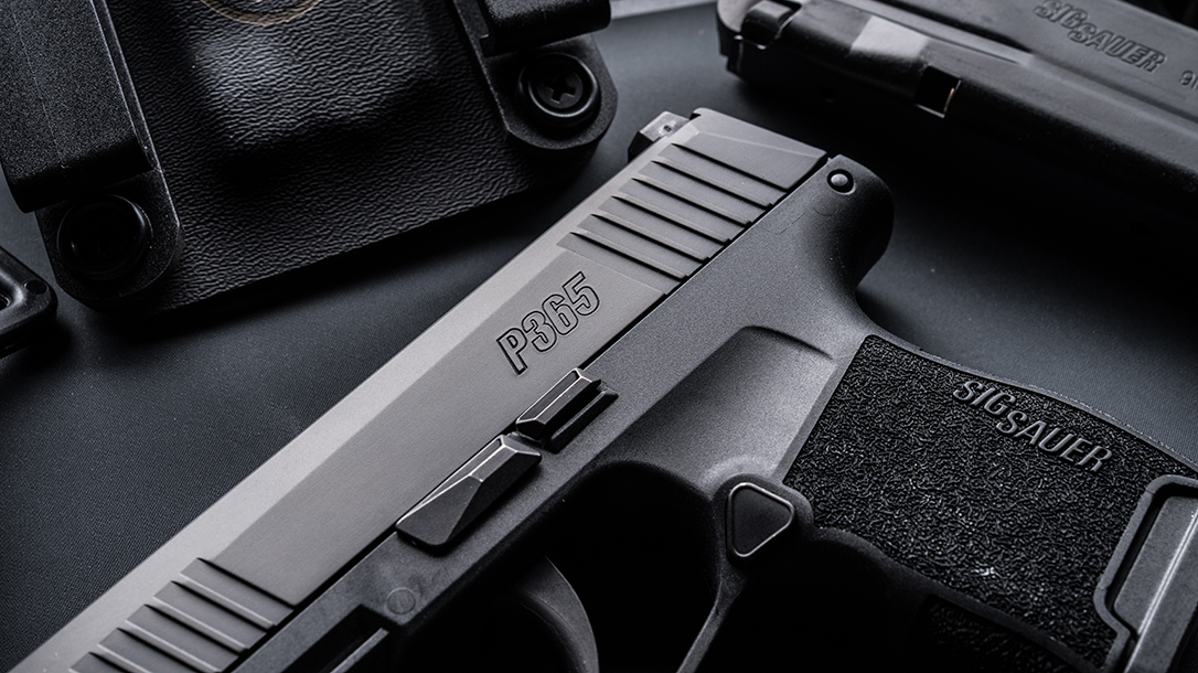 sig p365 pistol rear serrations