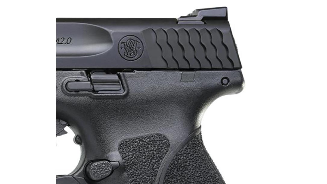 smith wesson M&P M2.0 Compact pistol rear slide serrations
