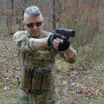 Steyr L40-A1 pistol shooting