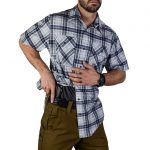 vert Guardian shirt indigo plaid