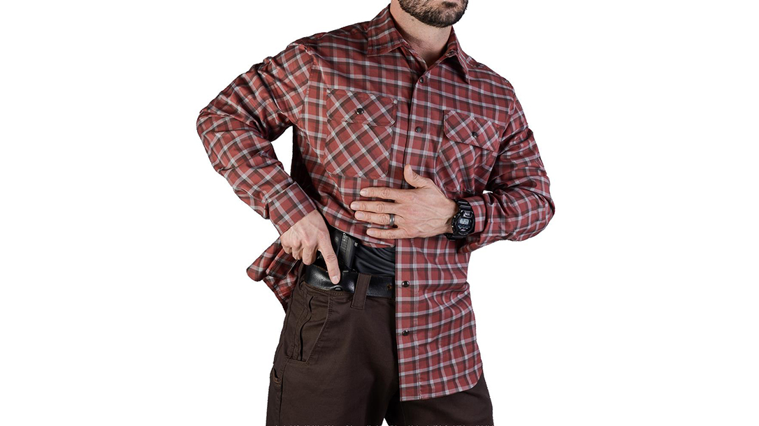 vert Guardian shirt brick plaid