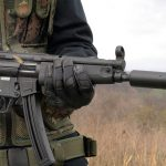 Walther HK MP5A5 rifle hip shooting